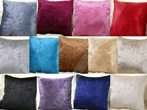 Crushed Velvet Cushion Covers Luxury Plain Covers 80cm x 120cm, 60cm x 80cm