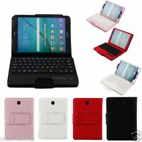 Folio Leather Case Bluetooth Keyboard For Samsung Galaxy Tab S2 8.0inch T710