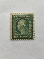 RARE George Washington 1 Cent Green RARE Postage Stamp - One Cent USPS Stamp