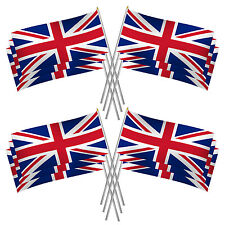 Union Jack Hand Flags x12 Perfect For Queen's Birthday, Olympics, Sports etc