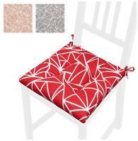 Cuscino copri sedia moderno universale cotone morbido lavabile laccetti cucina