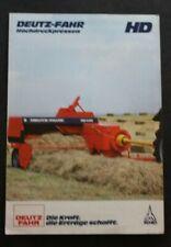 DEUTZ FAHR Hochdruckpressen HD Schlepper Traktoren Prospekt