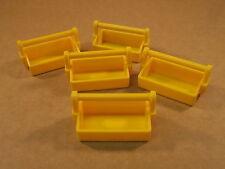 Playmobil 5 x Werkzeugkiste Werkstatt Kiste gelb #4412