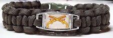 Cross Pistols Army Military Police Handmade Olive Drab Green Paracord Bracelet