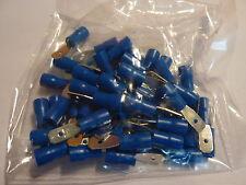 100 Stk Kabelschuhe Kabelschuh isoliert blau 1,5-2,5  Flachstecker 4,8x0,8 mm