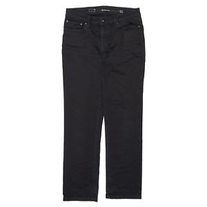 LEVI'S Demi Curve Black Denim Slim Straight Jeans Womens W29 L29