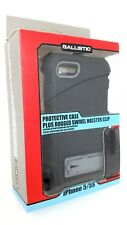 BALLISTIC HC HARDCORE CASE IPHONE 5 5S SE CLIP HOLSTER BLK & GRY - USA SELLER