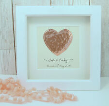 Copper Heart Large Frame 7th Wedding Anniversary Gift PERSONALISED