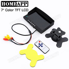 7 inch TFT LCD Screen AV VGA Car Rear View Monitor Adpater Remote Control VCR AU