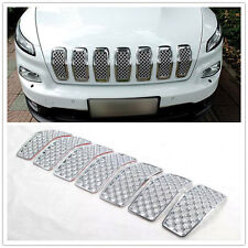 For Jeep Cherokee 2014-2016 Chromed Front Grille Inserts Mesh Grill Accessories