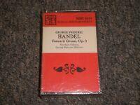 Geroge Freideric Handel~Concerti Grossi, Op. 3~George Malcolm~SEALED~Cassette