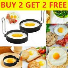 Metal Egg Frying Ring Circle Round Fried/Poach Non-Stick Cooker Mold With Handle
