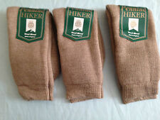 3 pair ladies hiking walking wool loop socks faun size 75% wool made in england