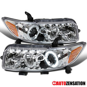 For 2008 2009 2010 Scion xB Halo Projector Headlights Lamps w/ LED Left+Right