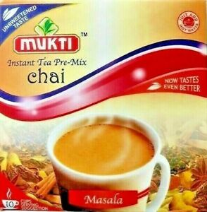 MUKTI CHAI INSTANT TEA PRE- MIX SWEETENED OR UNSWEETENED MASALA GINGER CARDAMOM