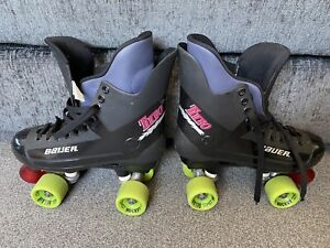 Bauer Turbo Roller Skates Size 7 Quad Hockey Belair Wheels
