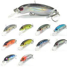 5PCS Mini Crank Lure Fishing Minnow Lures hook artificial  Crankbaits 5cm/4.2g
