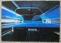 OPEL MANTA GT/E & SR Car Sales Brochure 1975-76 GERMAN TEXT