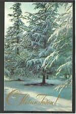 URSS 1973 New Year Russian inverno CONGRATULATION Inverno Forest MC MK Russia NEW