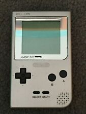 NINTENDO GAME BOY POCKET HAND HELD CONSOLE SILVER #MGB-001