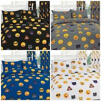 New Emoji Icon Emotions duvet set with Pillowcase  Duvet Cover Cute Faces