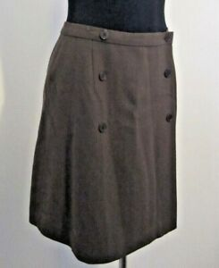 Calvin Klein Pure Wool Brown Skirt Made in Italy Size 10