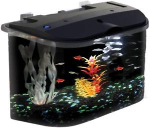 5 Gallon Fish Tank Starter Kit Aquarium Small Desktop Acrylic With Filter LED