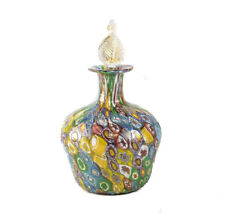 Venetian Murano Art Glass Millifiori  Perfume Bottle, c.1960. Gold Flecks