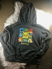 Pokemon Juniors Pikachu Grey Pullover Hoodie - Great Condition