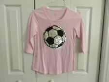 EUC!!  Justice Pink Soccer Sequence Shirt - Size Girls 10 Fit
