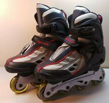 Fforward Spark Rollerblades Inline Skates Gray/RedBlack Youth Size 8 New Wob