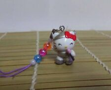 Hello Kitty Cosplay Pop Star Singer Cell Phone Charm Mascot