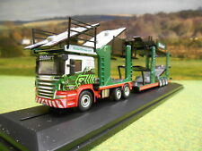 Oxford Diecast 76SCT005 SCANIA P Car TRANSPORTER Eddie Stobart Christina Frances