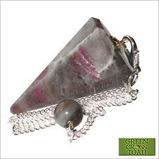 Ruby Kyanite Crystal Point Dowsing Pendulum Dowser Scrying