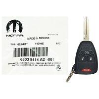 OEM Jeep In Bag Remote Start Key Keyless Entry Transmitter Fob Uncut 68039414
