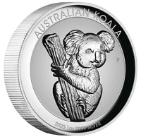 2020 First INCUSED High Relief Koala 1oz Dollar $1 Silver Proof Coin