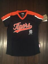 Detroit Tigers NEW Girls X-Large VNeck Pullover Jersey MLB Baseball NWT Fan Gift
