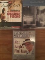 3x AGATHA CHRISTIE AUDIO BOOK CASSETTE TAPES - Miss Marple's Final Cases ....,