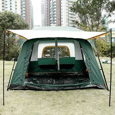 Outdoor Tent Room Two Hall 8-10 Person Large Tunnel Tent Anti-Rain Camping LFSZ