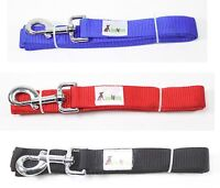 Solid Color Nylon 6 ft Long 1 in. Wide Dog Leash Red Blue Or Black