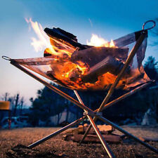 Outdoor Charcoal Rack Wood Fire Burn Frame Foldable Camping Barbecue BBQ Stove K