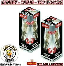 2x Eveready 220-240V 25w 300°C Oven Kitchen Appliance Lamp SES E14 Bulb Pygmy E