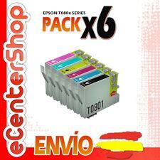 6 Cartuchos 0801 0802 0803 0804 0805 0806 NON-OEM Epson Stylus Photo PX800FW