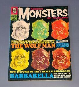 FAMOUS MONSTERS OF FILMLAND #51 AUG 68 Wolfman Barbarella King Kong VERY GOOD+