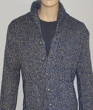 Ralph Lauren Cardigan in Blue and Light Brown  Size L NWT Linen-Silk-Cotton-Wool