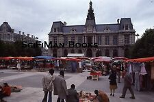 KODACHROME 35mm Slide France Poitiers Market Stands Old Cars People Fashion 1978