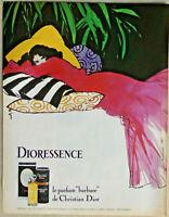 PUBLICITÉ DE PRESSE 1980 DIORESSENCE LE PARFUM BARBARE DE CHRISTIAN DIOR - GRUAU