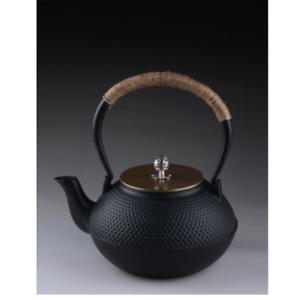 1L Black Cast Iron Japanese Tetsubin Teapot Kettle Stainless Steel Strainer