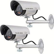 WALI Bullet Dummy Fake Surveillance Security CCTV Dome Camera - Set of 2