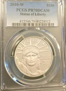 2010-W $100 Statue of Liberty PCGS PR70 PROOF PLATINUM EAGLE